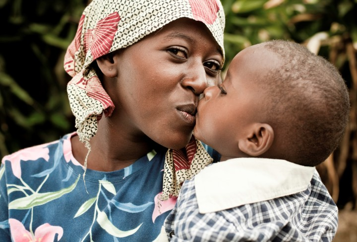 African Mother & Child Portrait